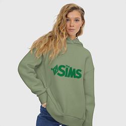 Толстовка оверсайз женская Sims цвета авокадо — фото 2
