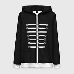 Толстовка на молнии женская My Chemical Romance цвета 3D-белый — фото 1