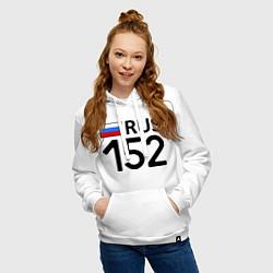 Толстовка-худи хлопковая женская RUS 152 цвета белый — фото 2