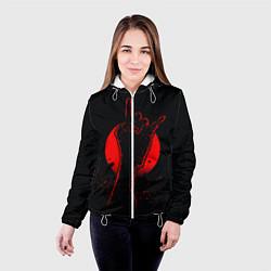 Куртка с капюшоном женская Zombie Rock цвета 3D-белый — фото 2