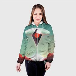 Куртка с капюшоном женская No Mans Sky цвета 3D-белый — фото 2