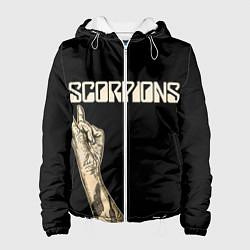 Куртка с капюшоном женская Scorpions Rock цвета 3D-белый — фото 1
