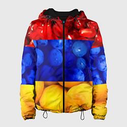 Куртка с капюшоном женская Флаг Армении цвета 3D-черный — фото 1