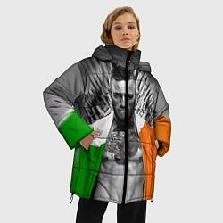 Женская зимняя 3D-куртка с капюшоном с принтом McGregor: Boxing of Thrones, цвет: 3D-черный, артикул: 10102373906071 — фото 2