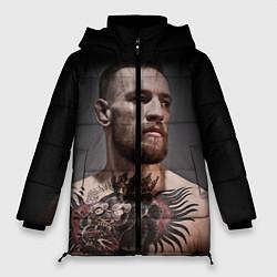 Женская зимняя 3D-куртка с капюшоном с принтом Conor McGregor, цвет: 3D-черный, артикул: 10102381406071 — фото 1