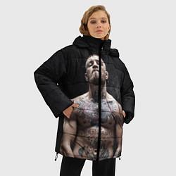 Женская зимняя 3D-куртка с капюшоном с принтом Конор Макгрегор, цвет: 3D-черный, артикул: 10108606406071 — фото 2