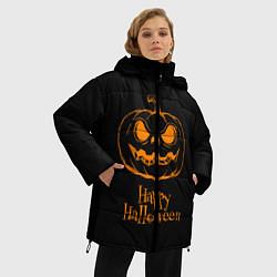 Женская зимняя 3D-куртка с капюшоном с принтом Halloween, цвет: 3D-черный, артикул: 10108886906071 — фото 2
