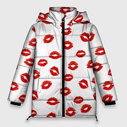 Куртка зимняя женская Поцелуйчики цвета 3D-черный — фото 1