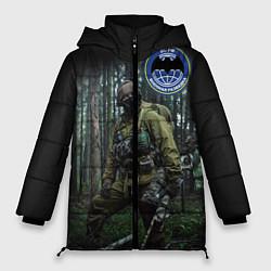 Куртка зимняя женская Военная разведка цвета 3D-черный — фото 1