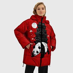 Куртка зимняя женская Panda Warrior цвета 3D-черный — фото 2