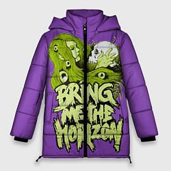 Женская зимняя 3D-куртка с капюшоном с принтом Bring Me The Horizon, цвет: 3D-черный, артикул: 10112870606071 — фото 1