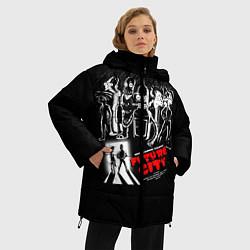 Женская зимняя 3D-куртка с капюшоном с принтом Future City, цвет: 3D-черный, артикул: 10113800306071 — фото 2