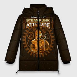 Женская зимняя 3D-куртка с капюшоном с принтом Steampunk Attitude, цвет: 3D-черный, артикул: 10113802106071 — фото 1