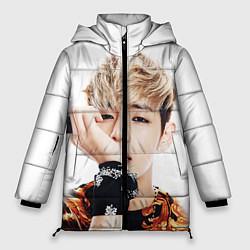 Женская зимняя 3D-куртка с капюшоном с принтом Kim TaeHyung, цвет: 3D-черный, артикул: 10114634906071 — фото 1
