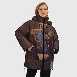 Женская зимняя 3D-куртка с капюшоном с принтом Александр III Миротворец, цвет: 3D-черный, артикул: 10116754406071 — фото 2