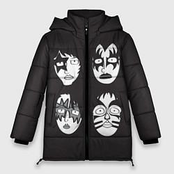 Куртка зимняя женская KISS Mask цвета 3D-черный — фото 1