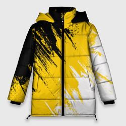 Женская зимняя 3D-куртка с капюшоном с принтом Имперский флаг России, цвет: 3D-черный, артикул: 10124379806071 — фото 1