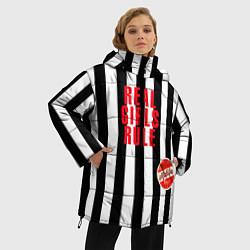 Куртка зимняя женская Девчонки рулят black stripe цвета 3D-черный — фото 2