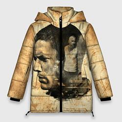 Куртка зимняя женская Prison Break: Scofield Art цвета 3D-черный — фото 1
