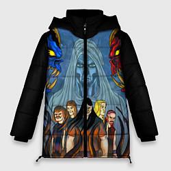 Женская зимняя 3D-куртка с капюшоном с принтом Dethklok: Heroes, цвет: 3D-черный, артикул: 10134389106071 — фото 1