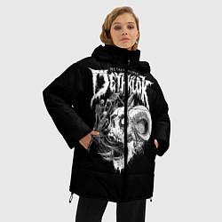 Женская зимняя 3D-куртка с капюшоном с принтом Dethklok: Goat Skull, цвет: 3D-черный, артикул: 10134390306071 — фото 2