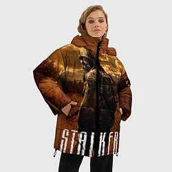 Женская зимняя 3D-куртка с капюшоном с принтом STALKER: Radiation, цвет: 3D-черный, артикул: 10135204106071 — фото 2