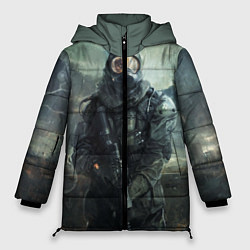 Женская зимняя 3D-куртка с капюшоном с принтом STALKER, цвет: 3D-черный, артикул: 10135205306071 — фото 1