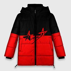 Куртка зимняя женская АлисА: Черный & Красный цвета 3D-черный — фото 1