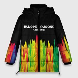 Женская зимняя 3D-куртка с капюшоном с принтом Imagine Dragons: Radioactive, цвет: 3D-черный, артикул: 10149906706071 — фото 1