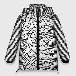 Женская зимняя 3D-куртка с капюшоном с принтом White Pleasures, цвет: 3D-черный, артикул: 10152526906071 — фото 1