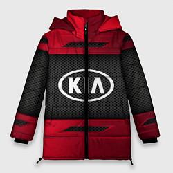 Женская зимняя 3D-куртка с капюшоном с принтом KIA Collection, цвет: 3D-черный, артикул: 10152928906071 — фото 1
