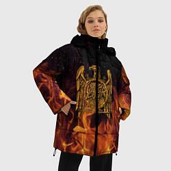 Женская зимняя 3D-куртка с капюшоном с принтом Slayer: Fire Eagle, цвет: 3D-черный, артикул: 10155330106071 — фото 2