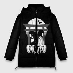 Женская зимняя 3D-куртка с капюшоном с принтом Унесённые призраками, цвет: 3D-черный, артикул: 10156080106071 — фото 1