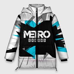 Женская зимняя 3D-куртка с капюшоном с принтом Metro: Exodus Sky, цвет: 3D-черный, артикул: 10161591106071 — фото 1