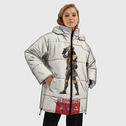 Женская зимняя 3D-куртка с капюшоном с принтом Apex Legends: Bloodhound, цвет: 3D-черный, артикул: 10172304506071 — фото 2