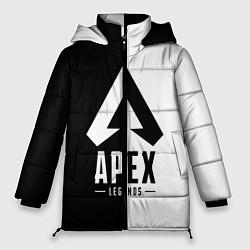 Женская зимняя 3D-куртка с капюшоном с принтом Apex Legends: Black & White, цвет: 3D-черный, артикул: 10172618306071 — фото 1