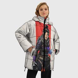 Женская зимняя 3D-куртка с капюшоном с принтом Apex Legends: Wraith, цвет: 3D-черный, артикул: 10172779506071 — фото 2
