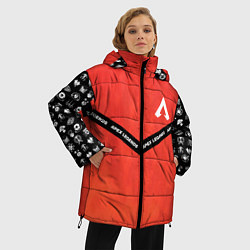 Женская зимняя 3D-куртка с капюшоном с принтом Apex Legends: Gamer, цвет: 3D-черный, артикул: 10173205506071 — фото 2