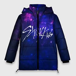 Женская зимняя 3D-куртка с капюшоном с принтом Stray Kids, цвет: 3D-черный, артикул: 10176228706071 — фото 1