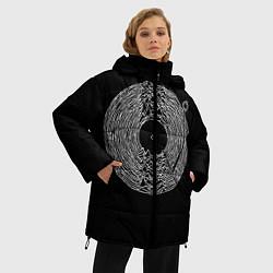 Женская зимняя 3D-куртка с капюшоном с принтом Joy Division, цвет: 3D-черный, артикул: 10183424106071 — фото 2