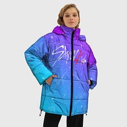 Женская зимняя 3D-куртка с капюшоном с принтом STRAY KIDS АВТОГРАФЫ, цвет: 3D-черный, артикул: 10185292906071 — фото 2