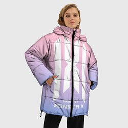 Женская зимняя 3D-куртка с капюшоном с принтом Monsta X, цвет: 3D-черный, артикул: 10187558906071 — фото 2