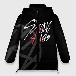 Женская зимняя 3D-куртка с капюшоном с принтом Stray Kids, цвет: 3D-черный, артикул: 10197054906071 — фото 1