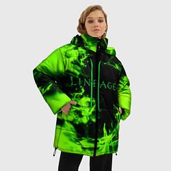 Женская зимняя 3D-куртка с капюшоном с принтом LINEAGE 2, цвет: 3D-черный, артикул: 10202647506071 — фото 2