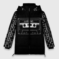 Женская зимняя 3D-куртка с капюшоном с принтом Loading, цвет: 3D-черный, артикул: 10205897706071 — фото 1