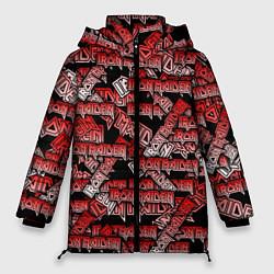 Женская зимняя 3D-куртка с капюшоном с принтом Iron Maiden, цвет: 3D-черный, артикул: 10208769506071 — фото 1