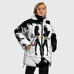 Женская зимняя 3D-куртка с капюшоном с принтом Brazzers, цвет: 3D-черный, артикул: 10211210906071 — фото 2