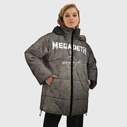 Женская зимняя 3D-куртка с капюшоном с принтом Megadeth, цвет: 3D-черный, артикул: 10211240306071 — фото 2
