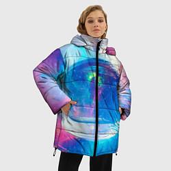 Куртка зимняя женская Космонавт - космос цвета 3D-черный — фото 2