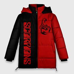 Женская зимняя 3D-куртка с капюшоном с принтом SCORPIONS, цвет: 3D-черный, артикул: 10212831306071 — фото 1